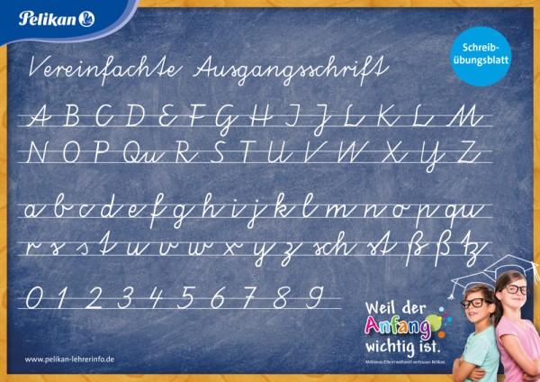 "Pelikan Schreibübungsblatt ""Vereinfachte Ausgangsschrift"" Klassensatz mit 30 Stück"