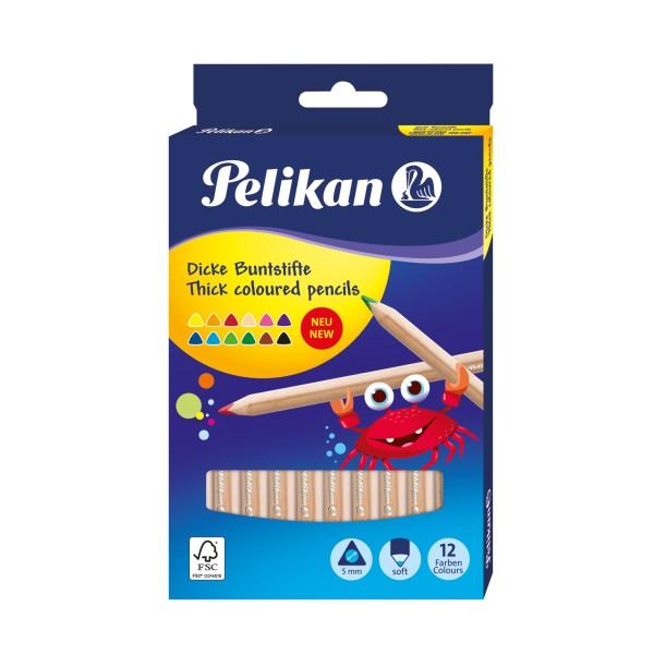 Pelikan Buntstifte Set Jumbo, dreieckig, 12 Farben