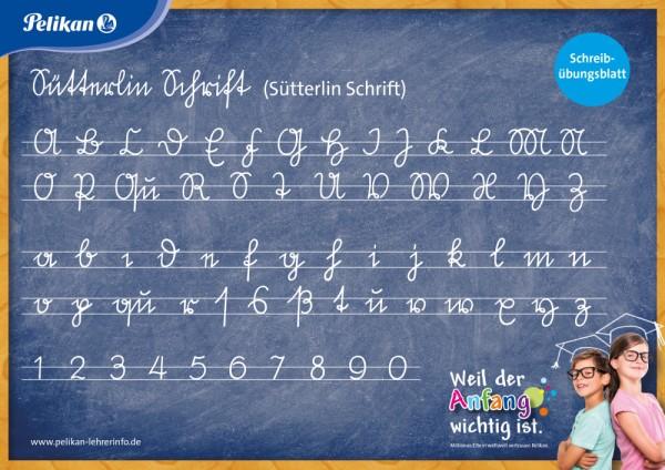 """Pelikan Schreibübungsblatt """"Sütterlin"""" Klassensatz mit 30 Stück"""