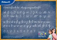 """Pelikan Poster """"Vereinfachte Ausgangsschrift"""""""